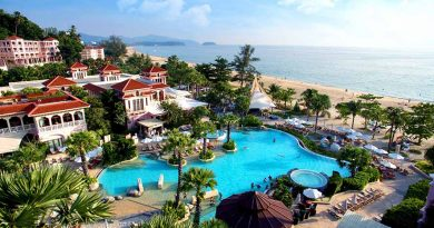 Centara Grand Beach Resort Phuket features world-class facilities, including a water park with multiple pools and slides